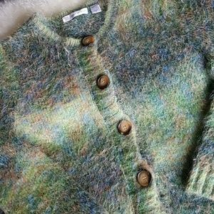 Vintage Eyelash Cardigan Sweater-Large